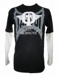 TAPOUT キッズボーイズ ロングTシャツ Dominator Slider 黒