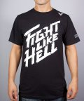 VXRSI Tシャツ Fight Like Hell 黒