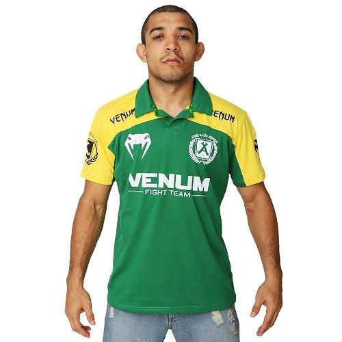 VENUM ポロシャツ ジョゼ・アルド UFC156 ブラジル 緑/黄                                     [ve2-3316]