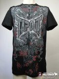 TAPOUT Tシャツ The Brave Die Proud 黒