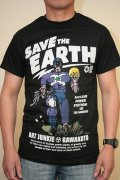 Gawakoto Tシャツ Save The earth 黒