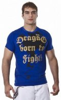 DRAGAO Tシャツ Born To Fight 青