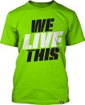 Muscle Pharm Tシャツ We Live This 黄緑