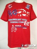 CLINCH GEAR Tシャツ Hendo UFC82 TrainingCamp 赤