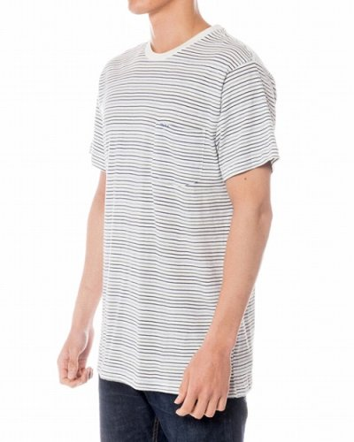 画像2: RVCA Tシャツ WARREN STRIPED KNIT 白